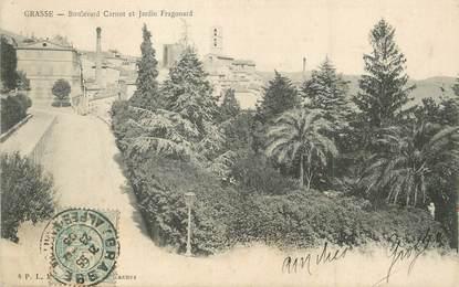"/ CPA FRANCE 06 ""Grasse, Boulevard Carnot et jardin Fragonard"""