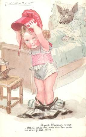 """CPA  ILLUSTRATEUR MAUZAN """"le petit chaperon rouge  """""""