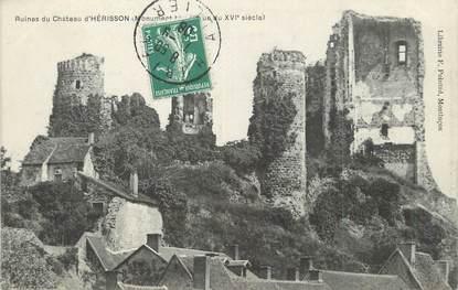 "/ CPA FRANCE 03 ""Ruines du château d'Hérisson"""