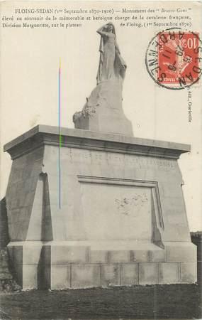 "/ CPA FRANCE 08 ""Floing Sedan, monument des Braves Gens"""