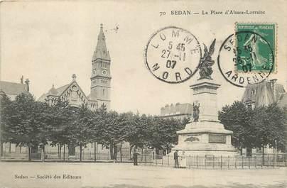 """/ CPA FRANCE 08 """"Sedan, la place d'Alsace Lorraine"""""""