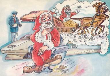 CPSM  ILLUSTRATEUR   MEDERIC /  Père Noël