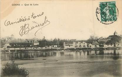 "/ CPA FRANCE 58 ""Cosne, quai de Loire"""