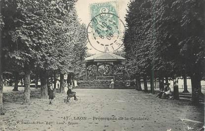 """/ CPA FRANCE 02 """"Laon, promenade de la Couloire"""""""