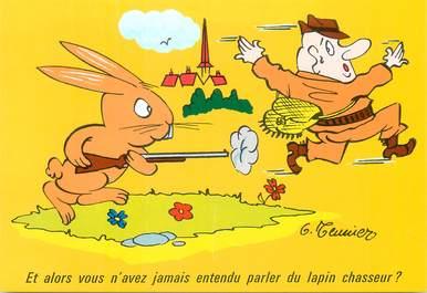 """CPSM    ILLUSTRATEUR MEUNIER  """"  et alors vous n'avez jamais entendu parler du lapin chasseur"""""""