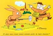 """Illustrateur  CPSM    ILLUSTRATEUR MEUNIER  """"  et alors vous n'avez jamais entendu parler du lapin chasseur"""""""