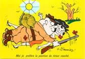"""Illustrateur  CPSM   ILLUSTRATEUR MEUNIER  """"  moi je prefere la position... """" / CHASSE"""