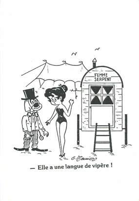 CPSM   ILLUSTRATEUR MEUNIER  / Elle a une langue de vipère