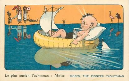 """CPA  ILLUSTRATEUR MICH """"le plus ancien yachtsman"""""""