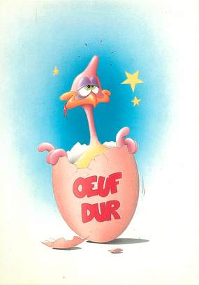 "CPSM  ILLUSTRATEUR MILON P. ""Oeuf dur"""
