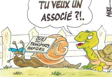 "CPSM ILLUSTRATEUR MIKA ""Escargot et tortue"""
