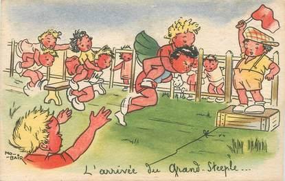"""CPA ILLUSTRATEUR MO-BAIR """"L'Arrivée du grand Steeple"""""""