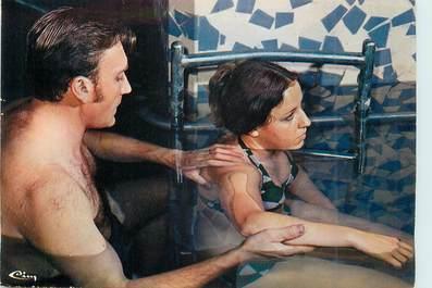 """/ CPSM FRANCE 73 """"Aix Les Bains, rééductaion en piscine Thermale"""" / THERMALISME"""