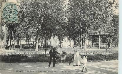 "/ CPA FRANCE 42 ""Roanne, les promenades Populle"""