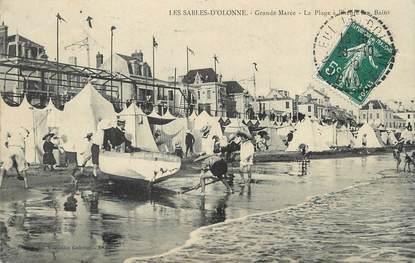 """/ CPA FRANCE 85 """"Sables d'Olonne, grande marée"""""""