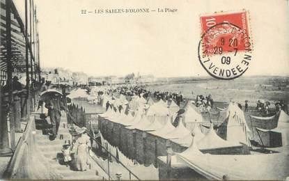 """/ CPA FRANCE 85 """"Sables d'Olonne, la plage"""""""