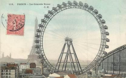 """/ CPA FRANCE 75015 """" Paris , la grande roue"""""""