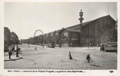 """/ CPSM FRANCE 75015  """"Paris , l'avenue de la Motte Piscquet, la galerie des machines"""" / LA GRANDE ROUE"""