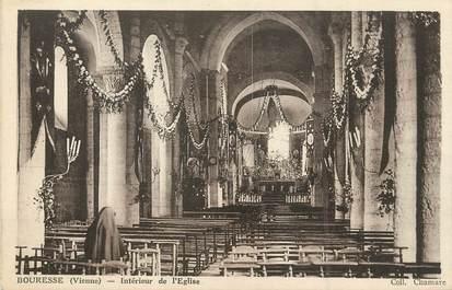 """/ CPA FRANCE 86 """"Bouresse, intérieur de l'église"""""""