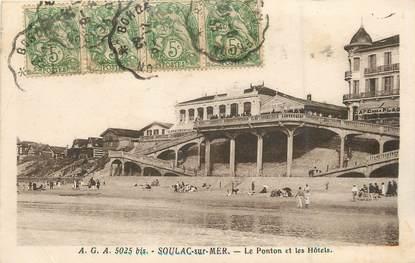 """/ CPA FRANCE 33 """"Soulac sur Mer, le ponton et les hôtels"""""""