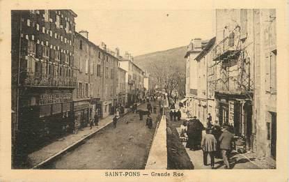 "/ CPA FRANCE 34 ""Saint Pons, grande rue"""