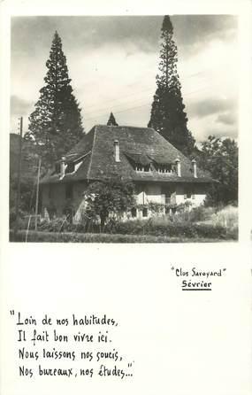 "/ CARTE PHOTO FRANCE 74 ""Sevrier, Clos Savoyard"""