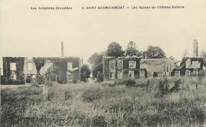 """/ CPA FRANCE 08 """"Saint Germainmont, les ruines du château Sutaine"""""""