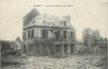 """/ CPA FRANCE 80 """"Albert, café de la musique sur la place"""""""