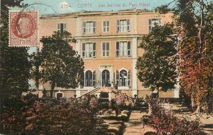 """/ CPA FRANCE 20 """"Corse, Corte, les jardins du Parc Hôtel"""""""