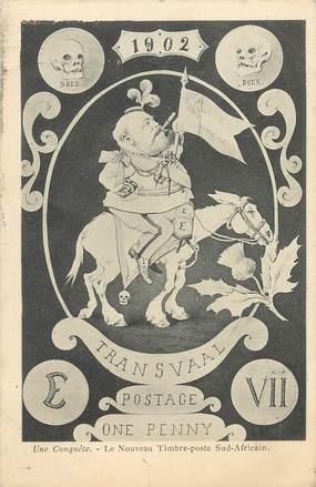 """CPA ILLUSTRATEUR ORENS """"le nouveau timbre poste sud africain"""""""