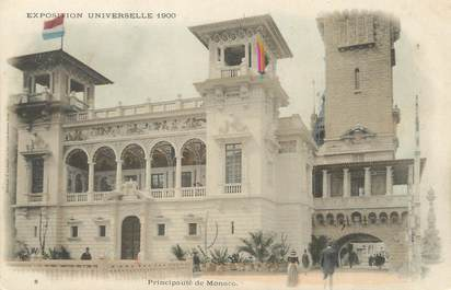 "/ CPA MONACO ""Prinicpauté de Monaco, exposition universelle 1900"""