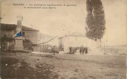 """/ CPA FRANCE 05 """"Rosans, la fontaine Ladoucette"""""""
