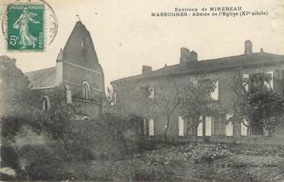 "/ CPA FRANCE 86 ""Massognes, abside de l'église"""
