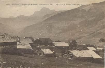 """/ CPA FRANCE 74 """"Hameau de Pettureau et le Mont Charvin"""""""