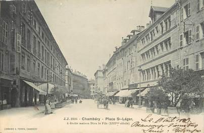"/ CPA FRANCE 73 ""Chambéry, place Saint Léger"""