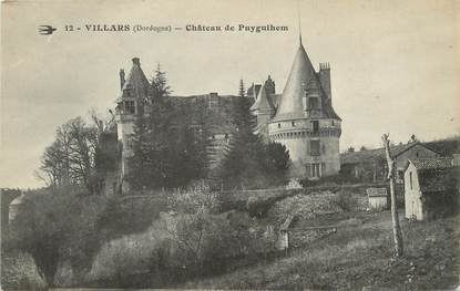 "/ CPA FRANCE 24 ""Villars, château de Puyguihem"""