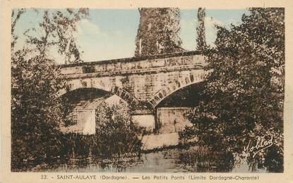 "/ CPA FRANCE 24 ""Saint Aulaye, les petits ponts"""