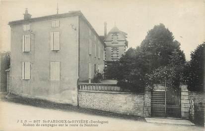 """/ CPA FRANCE 24 """"Saint Pardoux la Rivière, maison de campagne"""""""