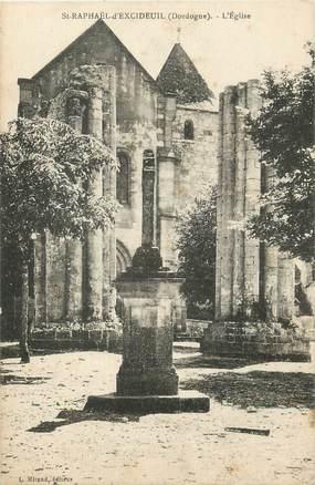 """/ CPA FRANCE 24 """"Saint Raphaël d'Excideuil, l'église"""""""