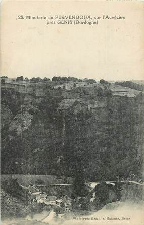 """/ CPA FRANCE 24 """"Minoterie du Pervendoux sur l'Auvézère près Genis"""""""