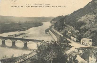 """/ CPA FRANCE 24 """"Rouffillac, pont de Saint Julien Lampon et route de Carlux"""""""