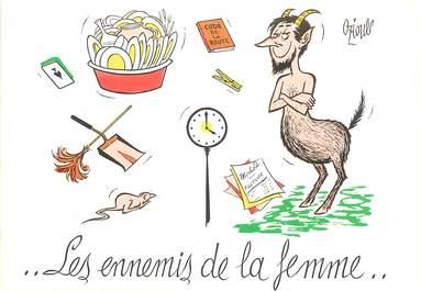 """CPSM  ILLUSTRATEUR  OZIOULS """"Les ennemis de la femme"""""""