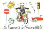 """Illustrateur CPSM  ILLUSTRATEUR  OZIOULS """"Les ennemis de l'Automobiliste"""""""
