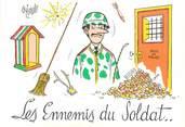 """Illustrateur CPSM  ILLUSTRATEUR  OZIOULS """"Les ennemis du Soldat"""""""