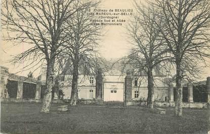 """/ CPA FRANCE 24 """"Château de Beaulieu près Mareuil sur Belle"""""""