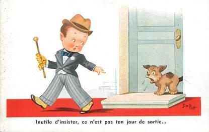 "CPA ILLUSTRATEUR JIM PATT ""Inutile d'insister..."" / CHIEN"