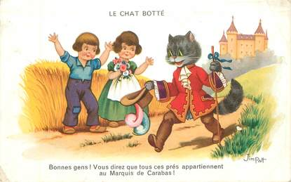 """CPA ILLUSTRATEUR JIM PATT  """"Le Chat Botté"""""""