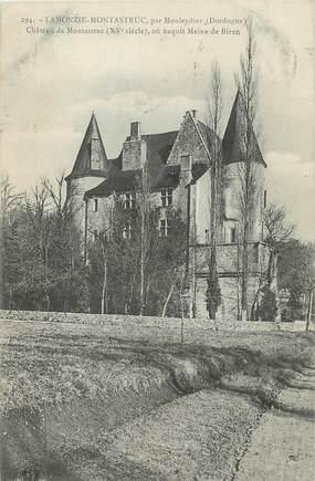 """/ CPA FRANCE 24 """"Lamonzie Montastruc par Mouleydier, château de Montastruc"""""""