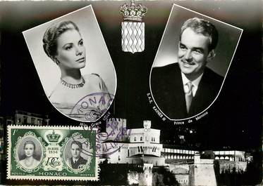 CPSM MONACO Le Prince Rainier III et la princesse Grace Kelly