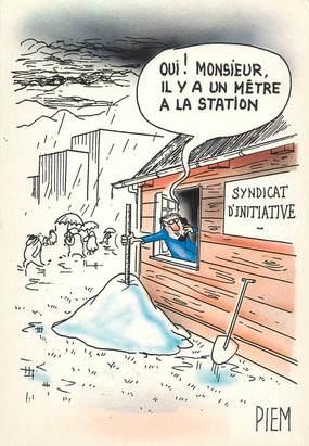 CPSM  ILLUSTRATEUR  PIEM  /   SKI